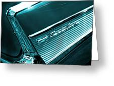Classic '57 Teal And Chrome Greeting Card