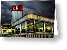Classic American Diner Greeting Card by Diane Diederich