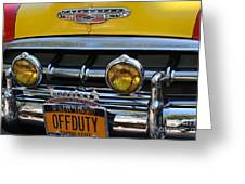 Classic New York City Cab - Detail Greeting Card