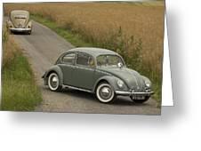 Classic Beetle  2 Greeting Card