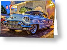 Classic Blue Caddy At Night Greeting Card