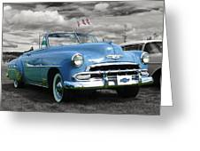 Classic Blue Chevy Greeting Card
