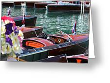 Classic Boats In Lake Tahoe Greeting Card