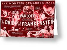 Classic Bride Of Frankenstein Poster Greeting Card