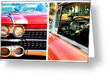 Classic Caddy Inside And Out Greeting Card