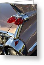 Classic 1960's Cadillac Fin Greeting Card