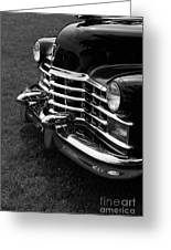 Classic Cadillac Sedan Black And White Greeting Card