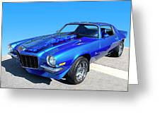 Classic Car 1973 Camaro 1 Greeting Card