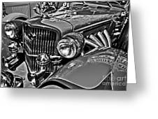 Classic Car Detail Greeting Card