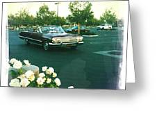 Classic Car Family Outing Greeting Card