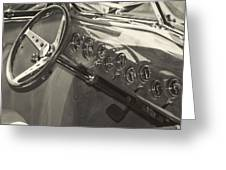 Classic Car Interior Greeting Card