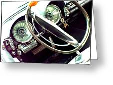 Classic Car Odometer Greeting Card