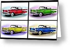 Classic Car Pop Art Greeting Card by Jo Collins