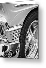 Classic Car Reflections - Training Wheels -179bw Greeting Card