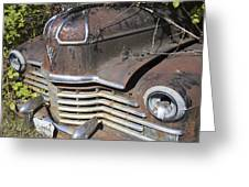 Classic Car With Rust Greeting Card