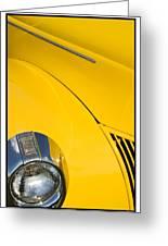 Classic Car Yellow - 09.20.08_471 Greeting Card