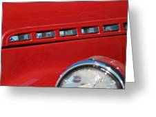 Classic Chevy Design Greeting Card
