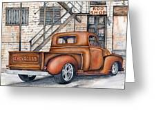 Classic Chevy Pu Greeting Card