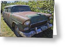 Classic Chevy With Rust Greeting Card