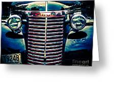 Classic Chrome Grill Greeting Card