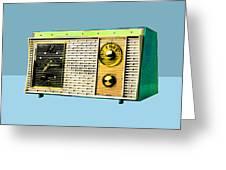 Classic Clock Radio Greeting Card
