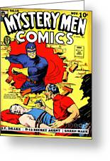 Classic Comic Book Cover - Mystery Men Comics - 1200 Greeting Card