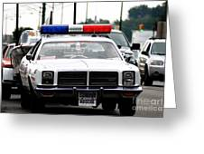 Classic Cop Car Greeting Card