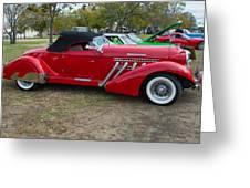 Auburn 1936 Roadster Classic Elegance Greeting Card
