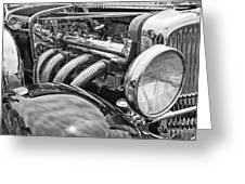 Classic Engine - Classic Cars At The Concours D Elegance. Greeting Card