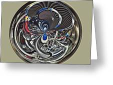 Classic Engine Orb Abstract Greeting Card