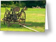 Classic Farm Equipment Greeting Card