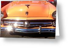 Classic Ford Car Hood Peach Greeting Card