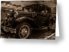 Classic Ford - Sepia Greeting Card