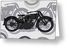 Classic Motorcycle  Greeting Card by Daniel Hagerman