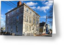 Classic New England Architecture Greeting Card