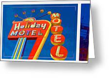 Classic Old Neon Signs Greeting Card