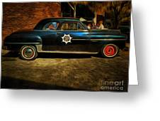 Classic Police Car Greeting Card