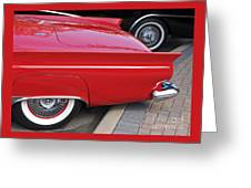 Classic Red And Black Greeting Card