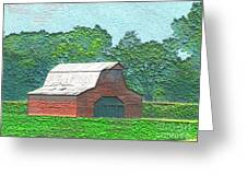 Classic Red Barn Greeting Card