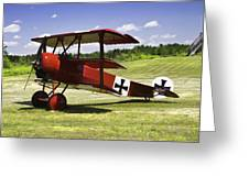 Classic Red Barron Fokker Dr.1 Triplane Photo Greeting Card