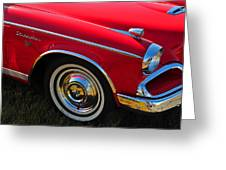 Classic Red Studebaker Greeting Card