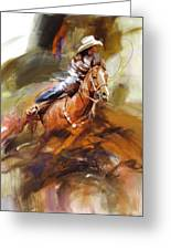 Classic Rodeo 6 Greeting Card