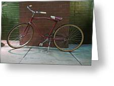 Classic Schwinn Bike  Greeting Card