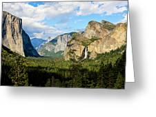 Classic Tunnel-view, Bridalveil Falls Greeting Card