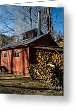 Classic Vermont Maple Sugar Shack Greeting Card