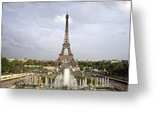 Classic View Of Paris Greeting Card