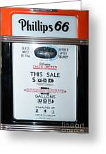 Classic Vintage Gilbarco Phillips 66 Gas Pump Dsc02751 Greeting Card