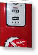 Classic Vintage Tokheim Red Indian Gas Pump Dsc02739 Greeting Card