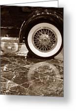 Classic Wheels Sepia Greeting Card
