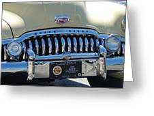 Classic Yellow 49' Buick Eight Greeting Card